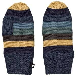 Image of Molo Unisex Gloves and mittens Blue Snowfall Mittens Ocean Stripe