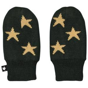 Image of Molo Unisex Gloves and mittens Green Snowflake Mittens Pine Grove