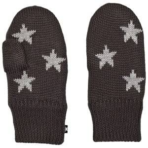 Image of Molo Unisex Gloves and mittens Black Snowfall Mittens Pirate Black