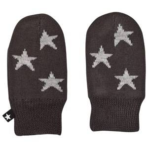 Image of Molo Unisex Gloves and mittens Black Snowflake Mittens Pirate Black