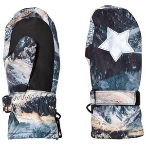 Image of Molo Unisex Gloves and mittens Blue Mitzy Mittens Mountain Range