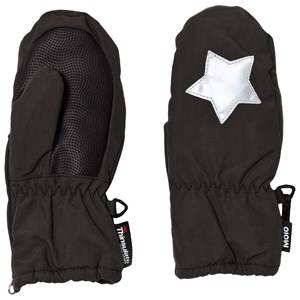 Image of Molo Unisex Gloves and mittens Black Igor Mittens Pirate Black