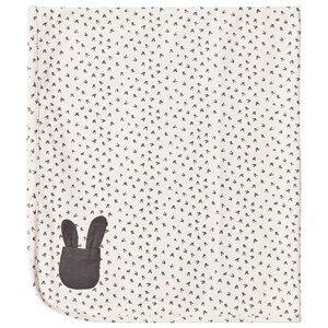 The Bonnie Mob Unisex Textile Cream Bunny Print Blanket Sand
