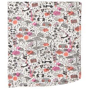 The Bonnie Mob Girls Textile Pink Panda Print Blanket Pink
