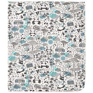 Image of The Bonnie Mob Unisex Textile Blue Panda Print Blanket Blue