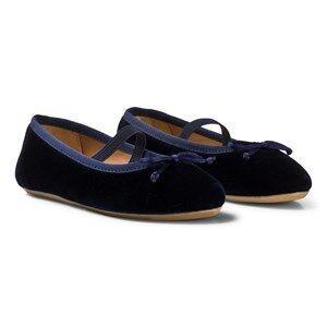 Flattered Girls Slippers Ninette Midnight Blue Velvet