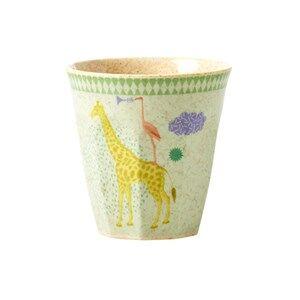 Rice Boys Norway Assort Tableware Green Kids Bamboo Small Melamine Cup w. Boys Animal Print