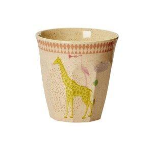 Rice Girls Norway Assort Tableware Pink Kids Bamboo Small Melamine Cup Animal Print