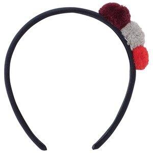 Il Gufo Girls Hair accessories Navy Navy Pom Pom Headband