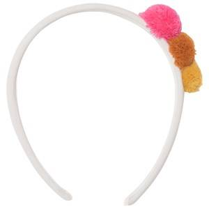 Il Gufo Girls Hair accessories Beige Beige Pom Pom Headband