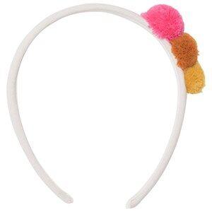 Il Gufo Girls Hair accessories Beige Beige Pom Pom Headband