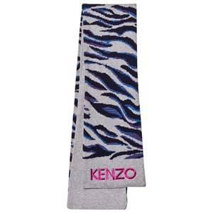 Kenzo Girls Scarves Grey Grey Tiger Print Scarf