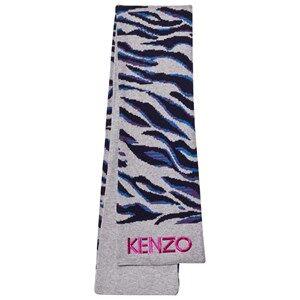Kenzo Girls Scarves Grey Grey Tiger Print Scarf