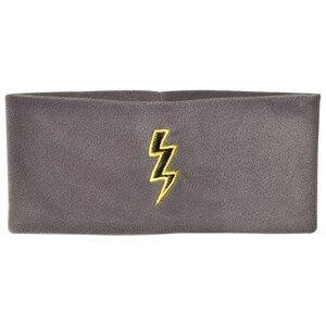 The BRAND Unisex Private Label Hair accessories Grey Bolt Fleece Headband Graphite Grey