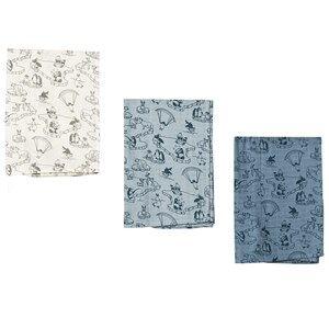 Småfolk Unisex Textile Cream Arctic Ocean Burp Cloths
