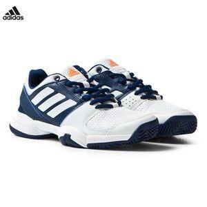adidas Performance Boys Sport footwear White Barricade Club Shoes Mystery Blue/White