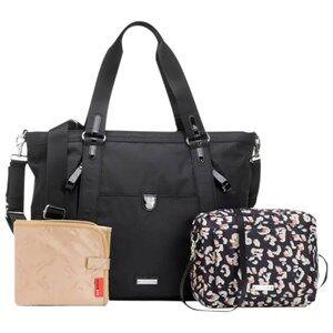 Storksak Girls Changing and travel bags Black Cleo + Mini-Fix Changing Bag Black