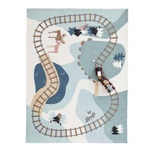 Kids Concept Unisex Textile White Woodland Edvin Rug