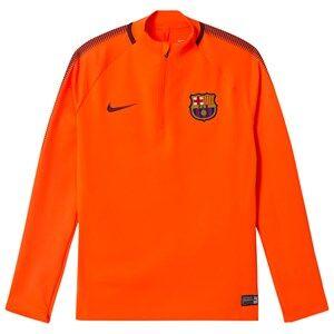 Barcelona FC Unisex Sporting replica Orange Junior FC Barcelona Drill Top