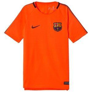 Barcelona FC Unisex Sporting replica Orange Junior FC Barcelona Squad Top