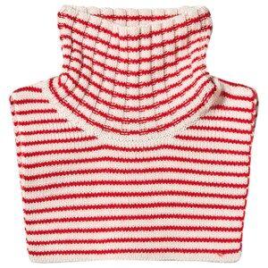 FUB Unisex Scarves Red Neck Warmer Ecru/Red