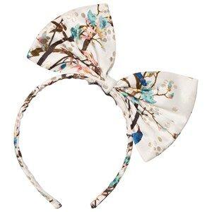 No Added Sugar Girls Hair accessories Cream Peacock Printed Bow Headband