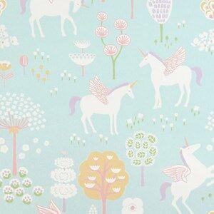 Majvillan Unisex Home accessories Blue True Unicorn Wallpaper Turquoise