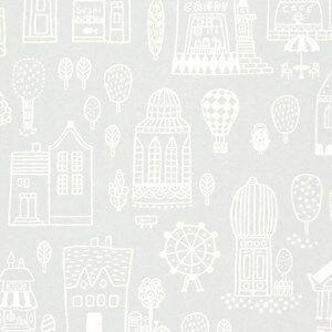 Majvillan Unisex Home accessories Grey Small Town Wallpaper Grey