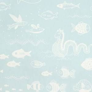 Majvillan Unisex Home accessories Blue Big Blue Wallpaper Dusty Turquoise