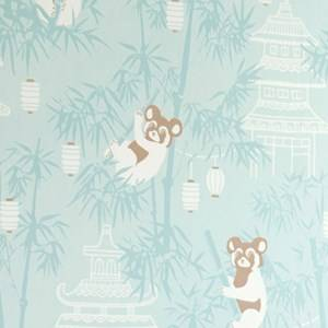 Majvillan Unisex Home accessories Blue Bambu Wallpaper Turquoise
