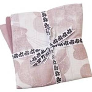 sebra Girls Textile Pink Muslin Cloths (3 Pack) In the Sky Vintage Rose