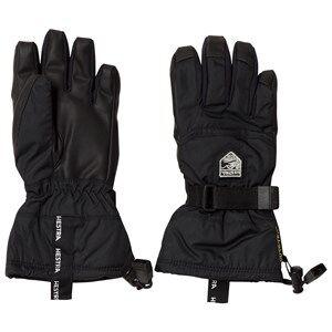 Image of Hestra Unisex Gloves and mittens Black Gore-Tex Gauntlet Jr. - 5 Finger Black