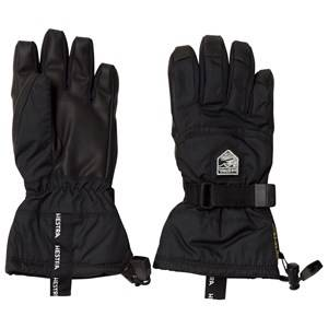 Image of Hestra Unisex Gloves and mittens Black Gore-Tex Gauntlet Jr. - 5 Finger Black
