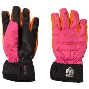 Hestra Unisex Gloves and mittens Pink CZone Primaloft Jr. 5 Finger Pink