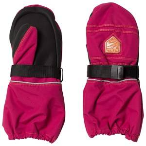 Hestra Unisex Gloves and mittens Pink Kid´s Wool Terry Mitten Pink
