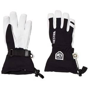 Image of Hestra Unisex Gloves and mittens Black Army Leather Heli Ski Jr. 5 Finger Black