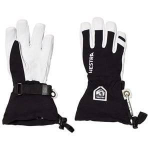 Hestra Unisex Gloves and mittens Black Army Leather Heli Ski Jr. 5 Finger Black
