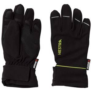 Image of Hestra Unisex Gloves and mittens Black CZone Pick Up Jr. 5 Finger Black