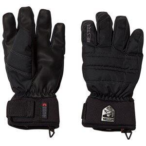 Image of Hestra Unisex Gloves and mittens Black CZone Primaloft Jr. 5 Finger Black