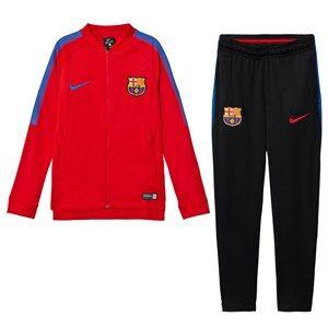 Barcelona FC Unisex Sporting replica Red FC Barcelona Squad Junior Tracksuit