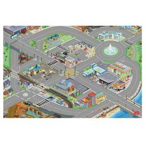 Le Toy Van Unisex Figurines and playsets Grey Medium Size Car Playmat