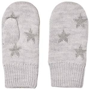 Image of Molo Unisex Gloves and mittens Grey Snowfall Mittens Snow melange