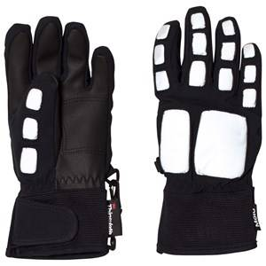 Image of Molo Unisex Gloves and mittens Black Madrobot Gloves Reflective