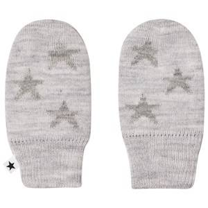 Image of Molo Unisex Gloves and mittens Grey Snowflake Mittens Snow melange