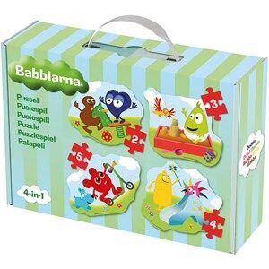Babblarna Unisex Puzzles & Collectible Series Multi Pussel, 4 i 1, 2+3+4+5 bitar