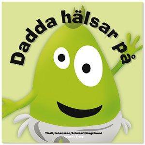 Babblarna Unisex Reading Green Barnbok, Dadda hälsar på