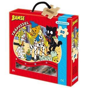 bamse Unisex Puzzles & Collectible Series Multi Kärnan, Träpussel, Bamse tvättar Billy Boy, 20 bitar