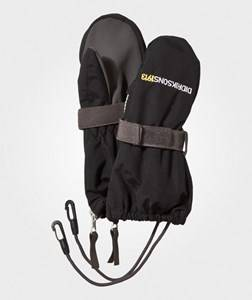 Image of Didriksons Unisex Gloves and mittens Black Biggles Zip Mittens Black
