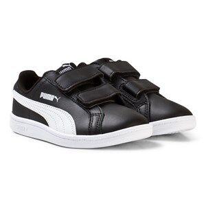 Puma Unisex Sport footwear Black Smash Youth Sneakers Black