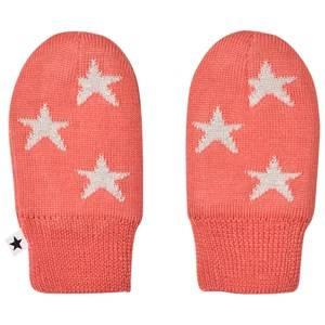 Image of Molo Snowflake Mittens Sunrise Wool gloves and mittens